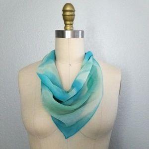 Vintage silk tie dye scarf hairtie